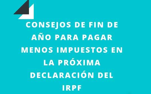 consejos para pagar menos impuestos irpf