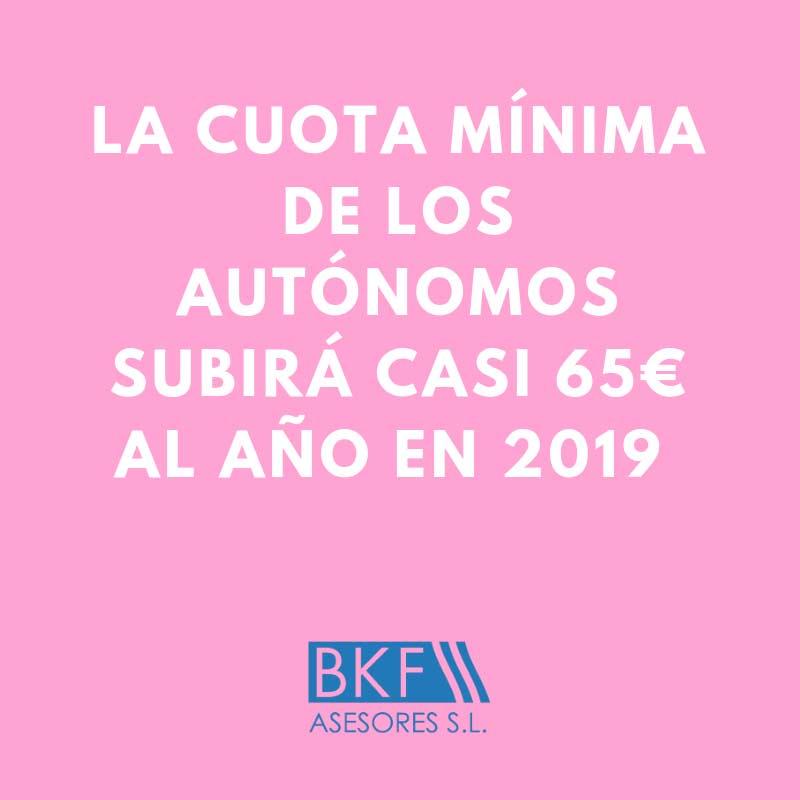 Autónomos pagarán 5,36€ más al mes desde 2019 + Nuevos Beneficios