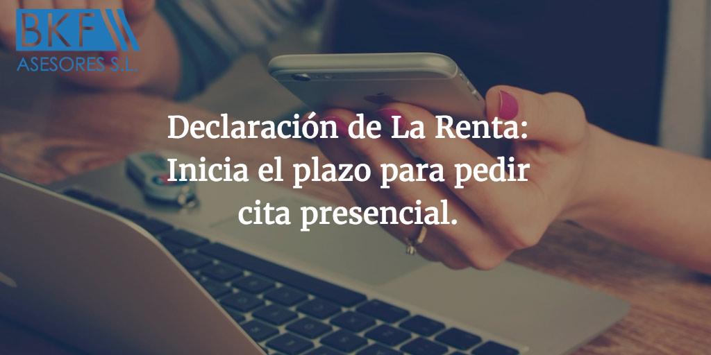 Declaración de La Renta: Inicia el plazo para pedir cita presencial
