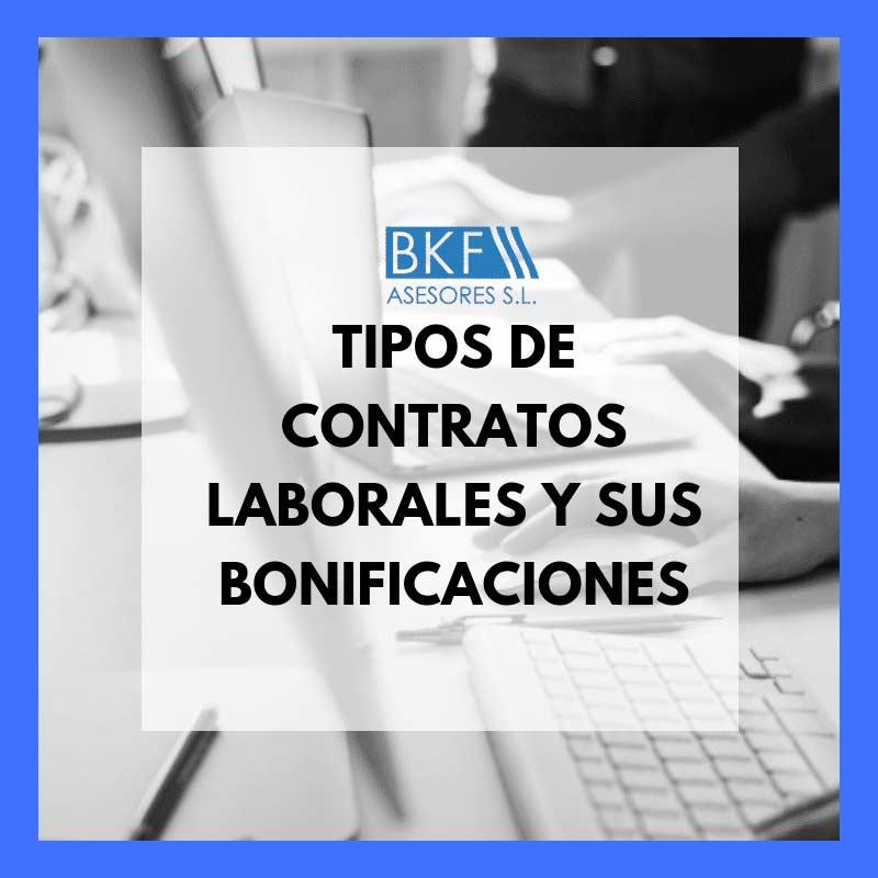 Tipos de contrato y sus bonificaciones